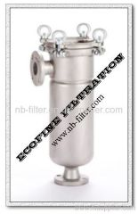 Single Stainless Steel Side-entry Bag Filter Housing