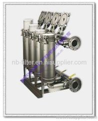 Parallel Stainless Steel Bag Filter Housings