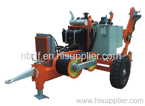 Hydraulic Line Puller : Ton hydraulic conductor puller of stringing equipment