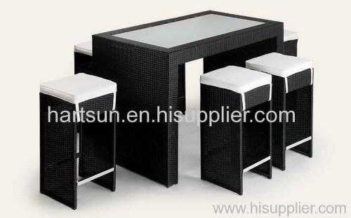 Outdoor furniture rattan bar set