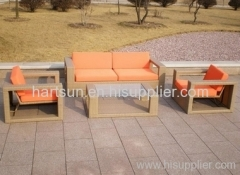 Outdoor PE rattan promotion sofa set