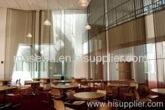 Lobby mesh dividers