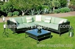Garden wicker rattan stainless steel sofa
