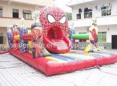 NEW! spiderman moon bounce