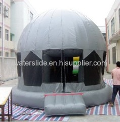 round bouncy castle