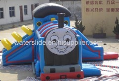 smiling face inflatable bouncy castle jumping house