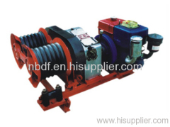 3 ton double bull wheel petrol engine winch