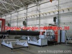 HDPE winding pipe making machine