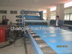 pvc sheet making unit