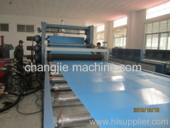 pvc sheet extruding machine