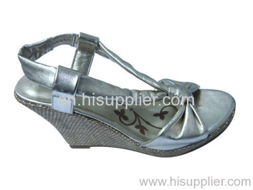 knoted wedge sandal