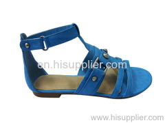 rivet and buckle flat sandal
