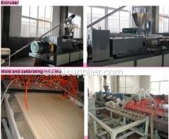 pvc wood plastic door Extruder making machine