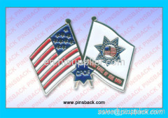Soft enamel flag lapel pin