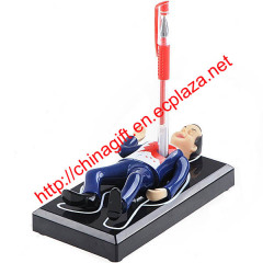 Funny & Horrible Struggle Dead Man with Sound Pen Holder Stand