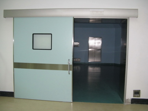 powder coated steel automatic sliding hermetic doors for operation rooms