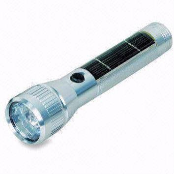 Aluminum solar flashlights