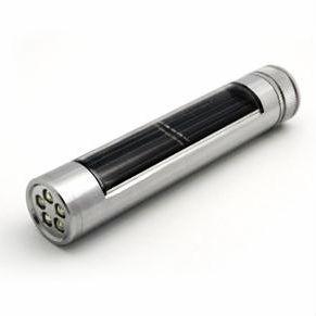 Aluminum solar flashlight