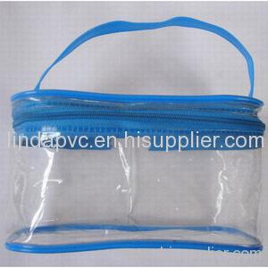 transparent pvc bag with handle