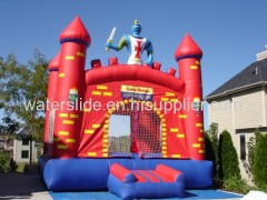 super red wall inflatable mini bouncer