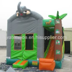 elephant bouncer with tropic slide jumping castles inflatable