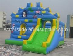 printig cartoons bouncy castle slide+blower+repair kit