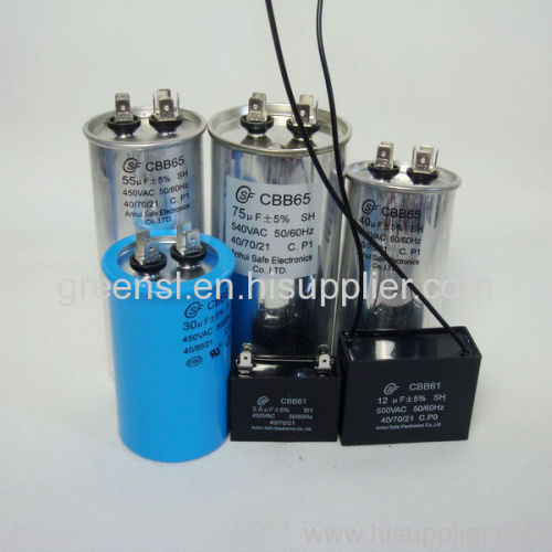 Electric Motor Capacitor Cbb65 60 61 Manufacturer From