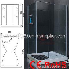 tempered shower room
