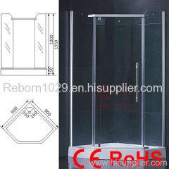 shower room with sauna