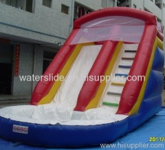 waterslide with a pool on the bottom water slide