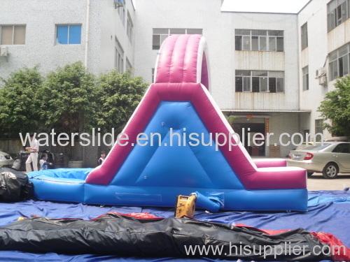 back ladder water slide+ pool+ single slideway