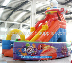space combo/ space bouncy castle slide