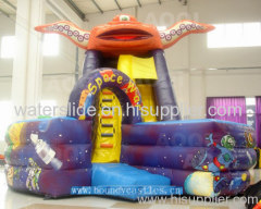 new design combo/bouncy castle slide