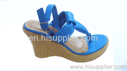 straped thong wedge sandals