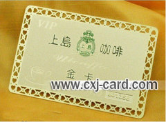 metal golden card