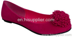 flowered suede flat