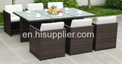 Garden furniture table chairs