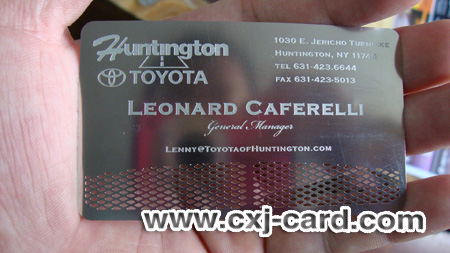 Stainless Steel Loyalty Card/Engraved Card