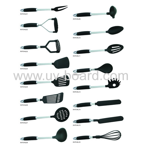 Nylon cooking tools set for Kitchen utensils names