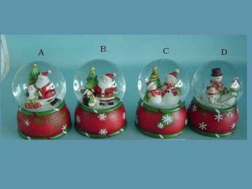 Christmas water globe decorations from china manufacturer