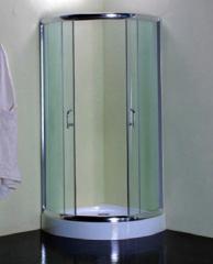 Polished aluminum frame shower room