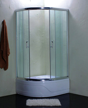 Simple glass shower room