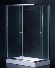 chrome aluminum shower room