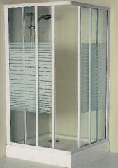 Fuzzy glass shower room