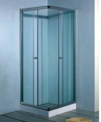 rectangular glass shower room