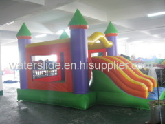 Colored commercial bounce house combo inflatable
