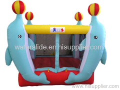 Dolphin mini bouncers moonwalks inflatable