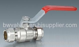 Standard bore brass ball valve
