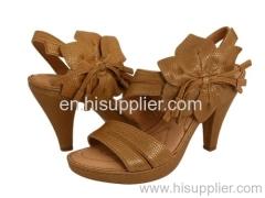 flowered heel sandal