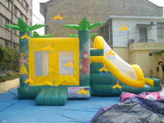 tropical forests bounce house, bouncy castle